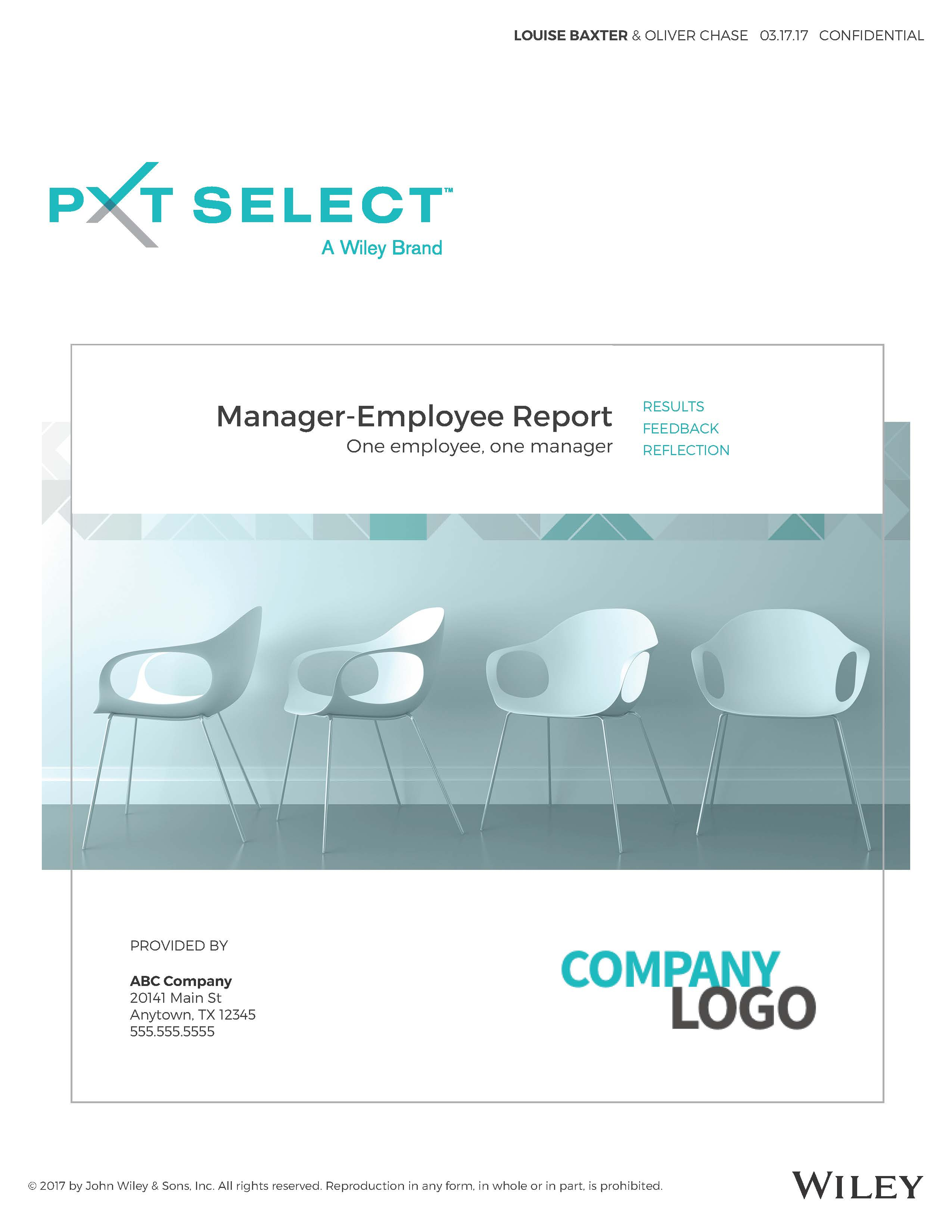 Manager-Employee Sample Report Cover