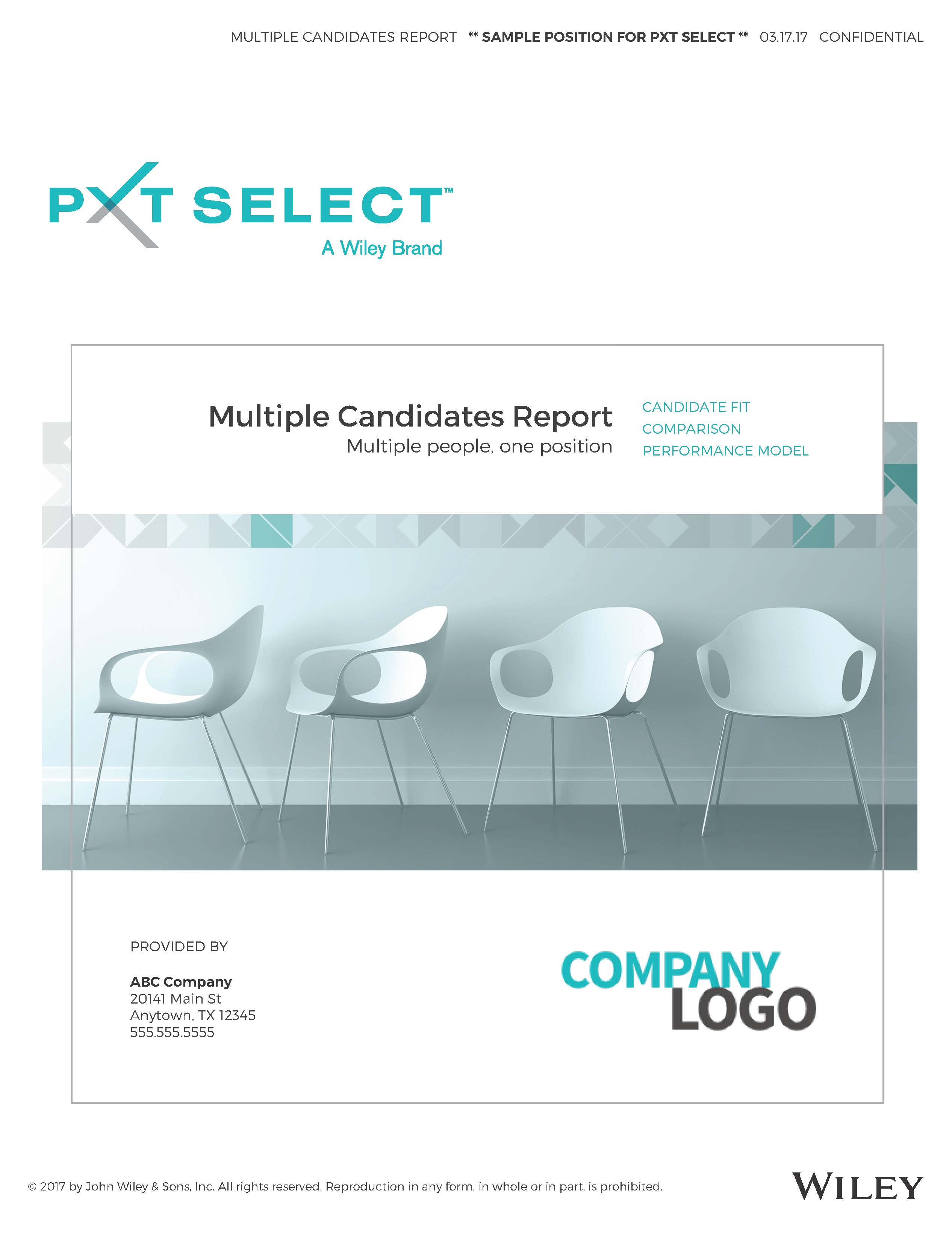 Multiple Candidates Sample Report Cover